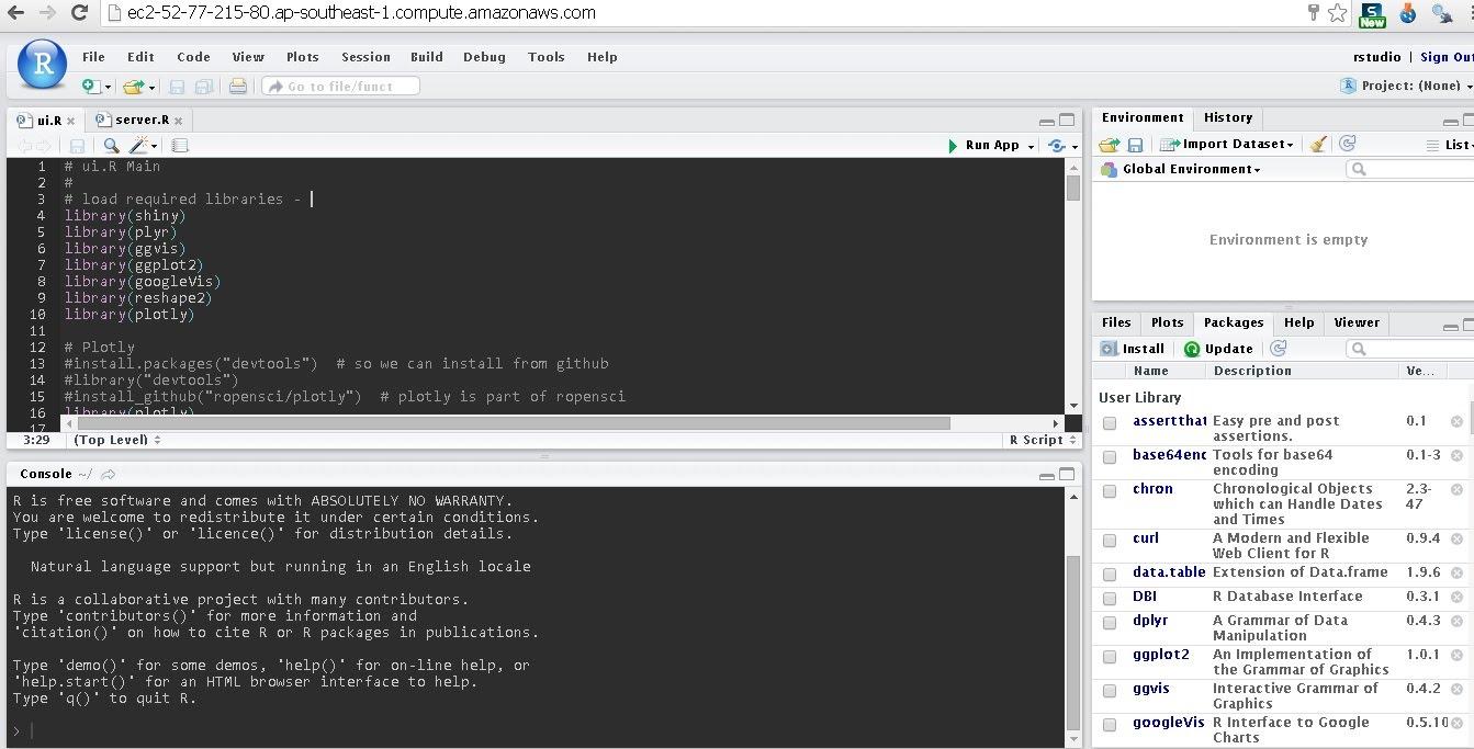 AWS Amazon com RStudio server on UBUNTU 14 04 #rstats - R